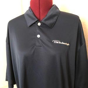 Nike Golf Men's Blue Polo Dri-Fit Shirt  1054